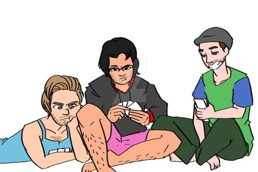 Playing Cards Against Humanity by MariaMediaHere