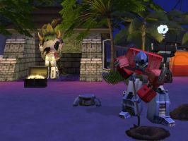 magnus got eated lol sims 2 by Spinosaur123