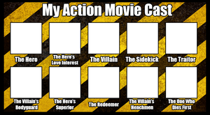 Action Movie Cast Template by benoski