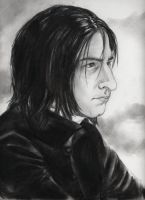 Portrait of Severus Snape by firesprite