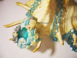 "Necklace ""Ocean's tear"" by Bojo-Bijoux"