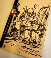 Sketchbook sketch, sketching ninja by MyCKs
