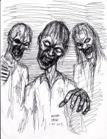 Zombie pen sketch 1-25-2013 by myconius