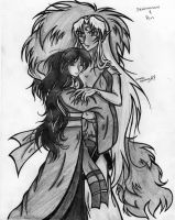 Sesshomaru and Rin by courage57