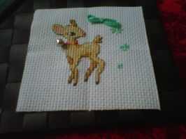 Xmas quilt square 3 - WIP by Karexie-Maylin