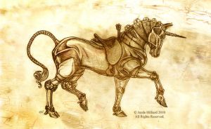 Steampunk Unicorn - Sketch by redrevvy
