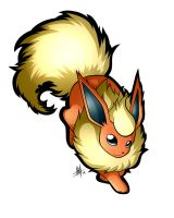 Flareon Sticker by Smudgeandfrank
