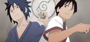 Naruto Shippuden -Young Madara and Hashirama by bunnaroath