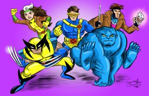 Five X-Men (90's style)! by scootah91