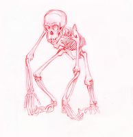 chimpanzee skeleton by drone-otd-obsone