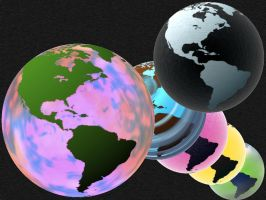 Summer Glass Globe Amerika PSD by taketo