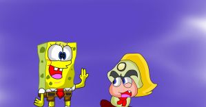 Spongebob fells in love in Goombella by DarkraDx
