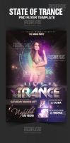 State of Trance Party Flyer Template by ImperialFlyers