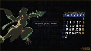 League of Legends Calender 2014 - November by CreateMyIntro