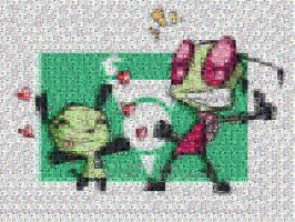 Zim and GIR mosaic by haydenchristensenfan