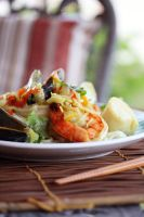 Thai Seafood Noodles (3) by laurenjacob