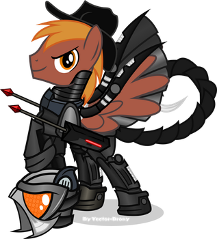 Calamity in his Enclave armour by Vector-Brony
