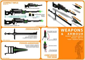 Weapon concepts 01 by Pencil-Fluke