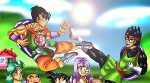 Yamcha vs Vine: Training for the 22nd Budokai by YamchaFan91