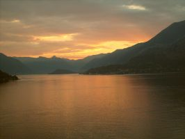 Flared Sky, Como, Italy by Shard01