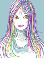 Colored Hair by aurangelica