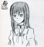 Homura Drawing by Aileen-Rose