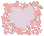 Hearts Valentine Background by TheStockWarehouse
