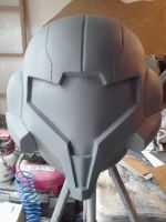 Lifesize Samus Helmet Build by Hyperballistik