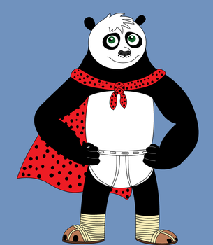 Po as Captain Underpants by Bailey-Dawg