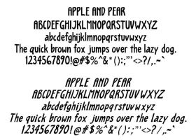 Apple and Pear font by twapa