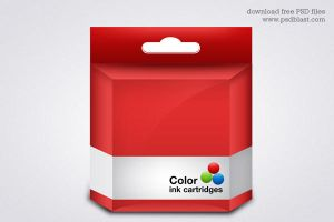 Vector Ink Cartridge template by psdblast