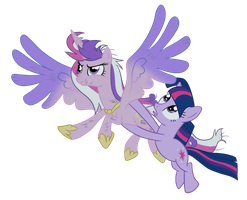 Cadance + Twilight by DarkAlchemist15