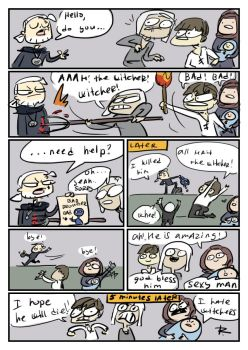 The Witcher 3, doodles 220 by Ayej