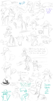 2013 Year-End Sketch Haul 4- Phineas and Ferb 2 by SecretagentG
