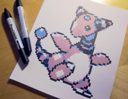 Shiny Ampharos GSC sprite drawing by Skudde