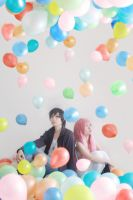 Just Be Friends_balloons rains by Dan-Gyokuei