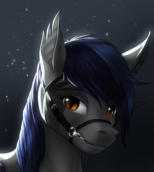 Commission: Bridled Bat Pony by MykeGreywolf