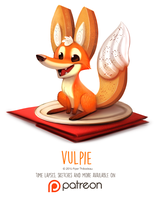 Day 1413. Vulpie by Cryptid-Creations