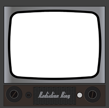 Radiation King TV set decal by augustin-blot-LBPS