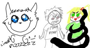 Look what they drew Darcy by werewolfpokemon