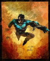 Commission: Nightwing by lizzbuenaventura