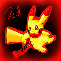 red the happiest rainbowchu by Pikachim-Michi