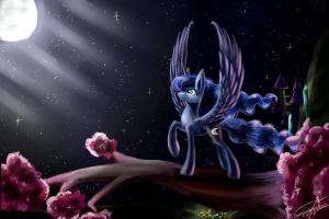 Luna's Gorgeous night by svecinkaT