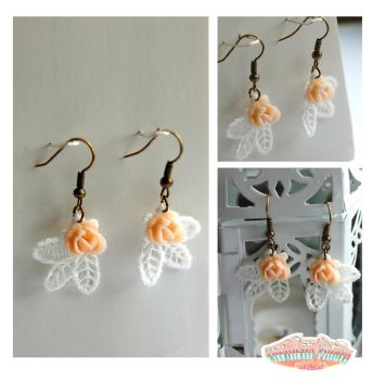 vintage lace earring by ReitaWolf