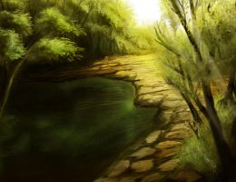 Lush Forest Speedpaint by Solfour