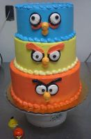 Angry Birds Cake by Darkend-link