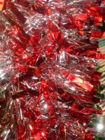 Red Christmas Tinsel Texture by SweetSoulSister