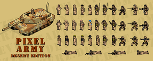 pixel army: desert edition by zchizzerz