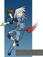 ToS [Day 3]: Genis Sage by ZioCorvid