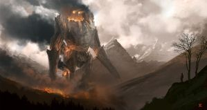 The Burning Giant by Juhannuskostaja